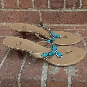 Stuart Weitzman Women Thong Heeled Sandal Size 8.5